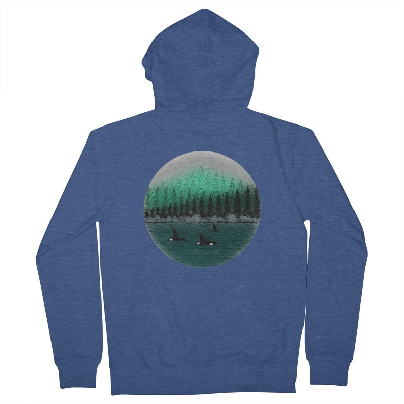 Orcas Women's French Terry Zip-Up Hoody by northernfin's Artist Shop