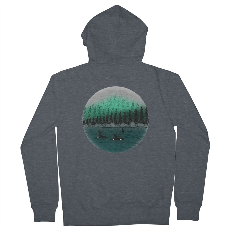Orcas Men's French Terry Zip-Up Hoody by northernfin's Artist Shop