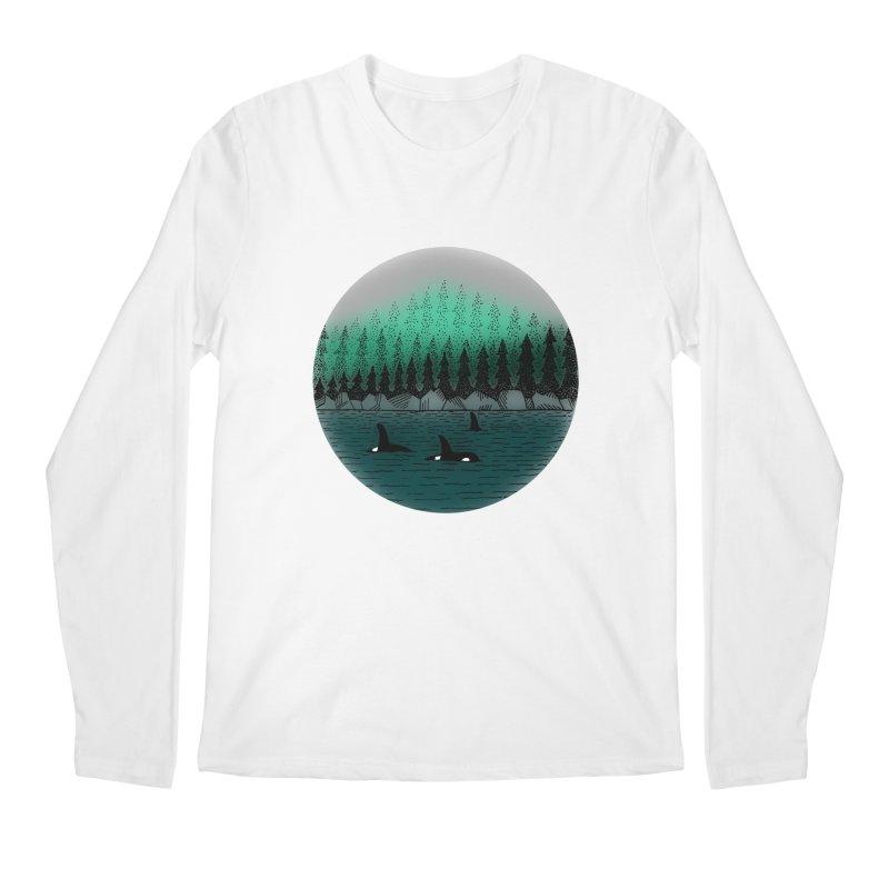 Orcas Men's Regular Longsleeve T-Shirt by northernfin's Artist Shop