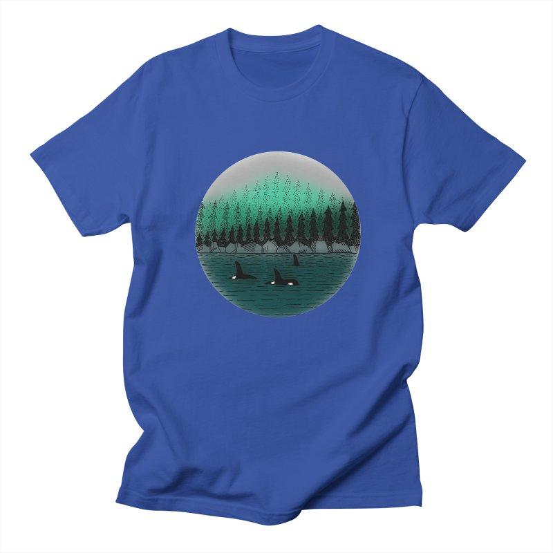 Orcas Men's Regular T-Shirt by northernfin's Artist Shop