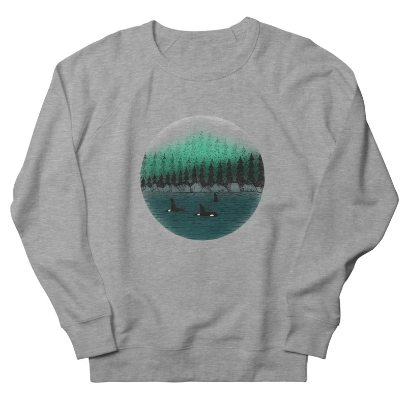 Orcas Men's French Terry Sweatshirt by northernfin's Artist Shop