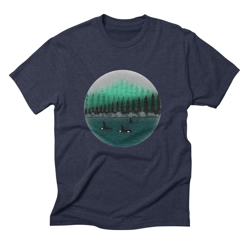 Orcas Men's Triblend T-Shirt by northernfin's Artist Shop