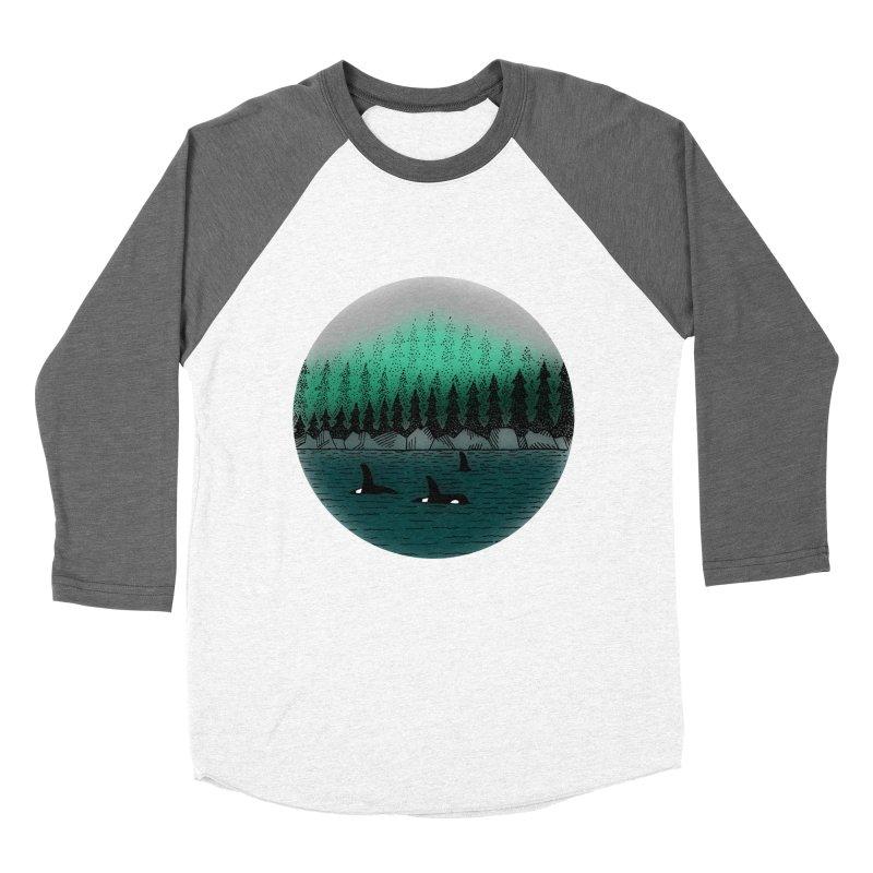 Orcas Women's Baseball Triblend T-Shirt by northernfin's Artist Shop