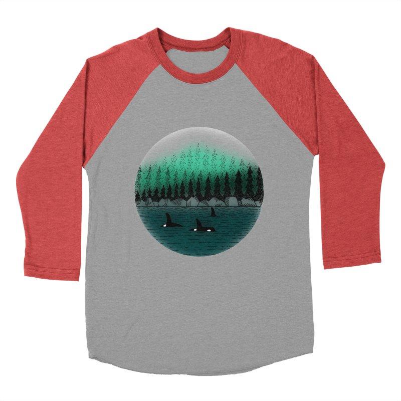 Orcas Women's Baseball Triblend Longsleeve T-Shirt by northernfin's Artist Shop