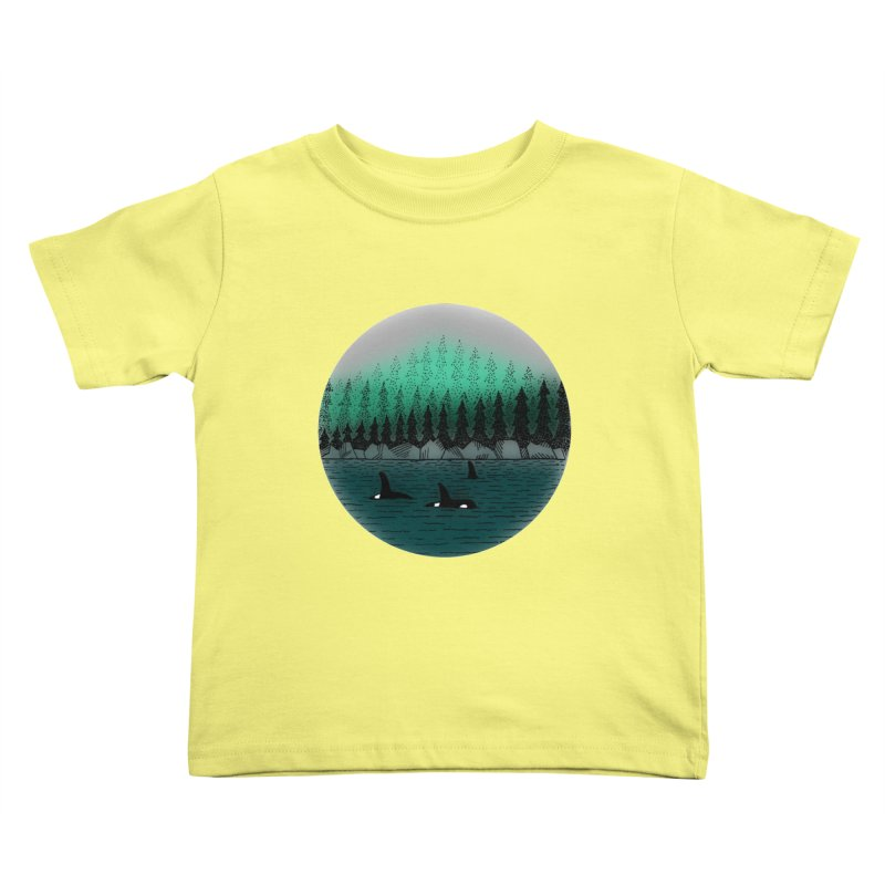 Orcas Kids Toddler T-Shirt by northernfin's Artist Shop