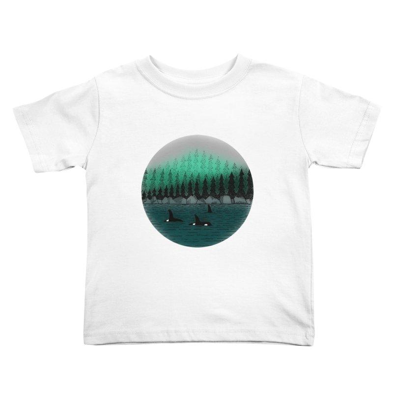 Orcas Kids Toddler T-Shirt by northernfin's Artist Shop