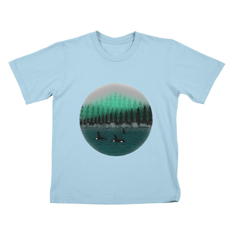 Orcas Kids T-Shirt by northernfin's Artist Shop