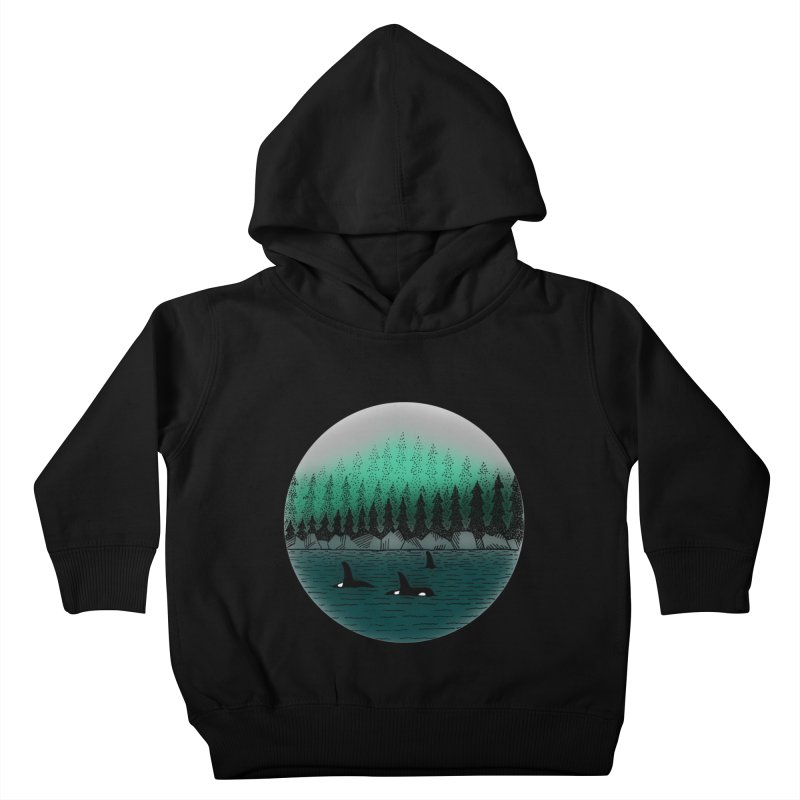Orcas Kids Toddler Pullover Hoody by northernfin's Artist Shop