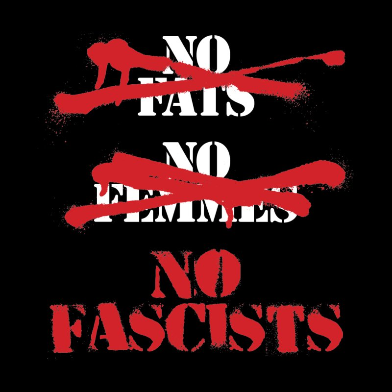 No Fascists Men's V-Neck by The Northwest Press Shop