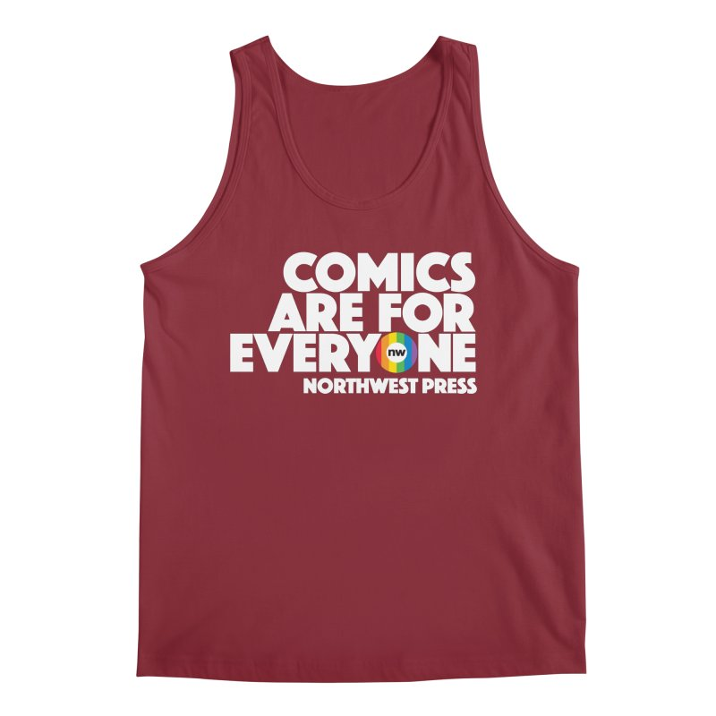 Comics are for Everyone (white lettering) Men's Regular Tank by The Northwest Press Shop