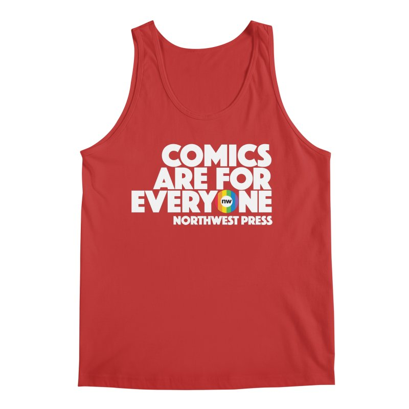 Comics are for Everyone (white lettering) Men's Tank by The Northwest Press Shop