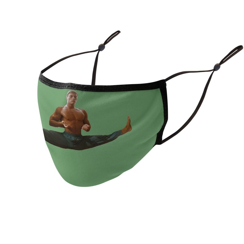 The Van Damme Smile Mask (Green) Accessories Face Mask by Austin's Artist Shop