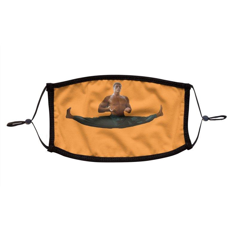 The Van Damme Smile Mask (Orange) Accessories Face Mask by Austin's Artist Shop