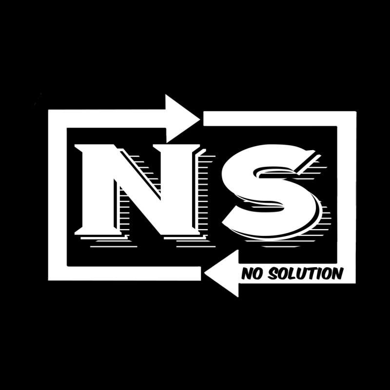 No Solution Logo Men's Zip-Up Hoody by nosolution's Artist Shop