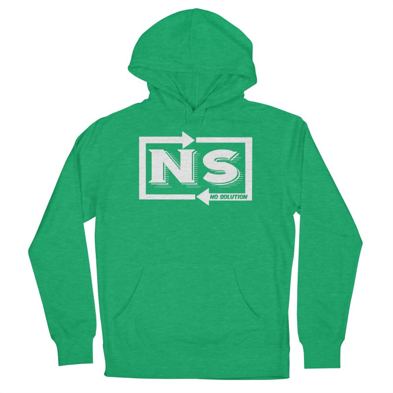 No Solution Logo Men's French Terry Pullover Hoody by nosolution's Artist Shop