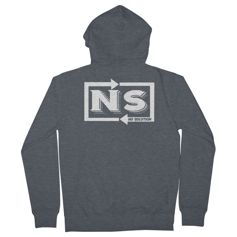 No Solution Logo Men's French Terry Zip-Up Hoody by nosolution's Artist Shop