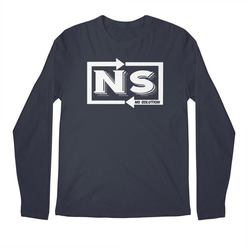 No Solution Logo Men's Longsleeve T-Shirt by nosolution's Artist Shop