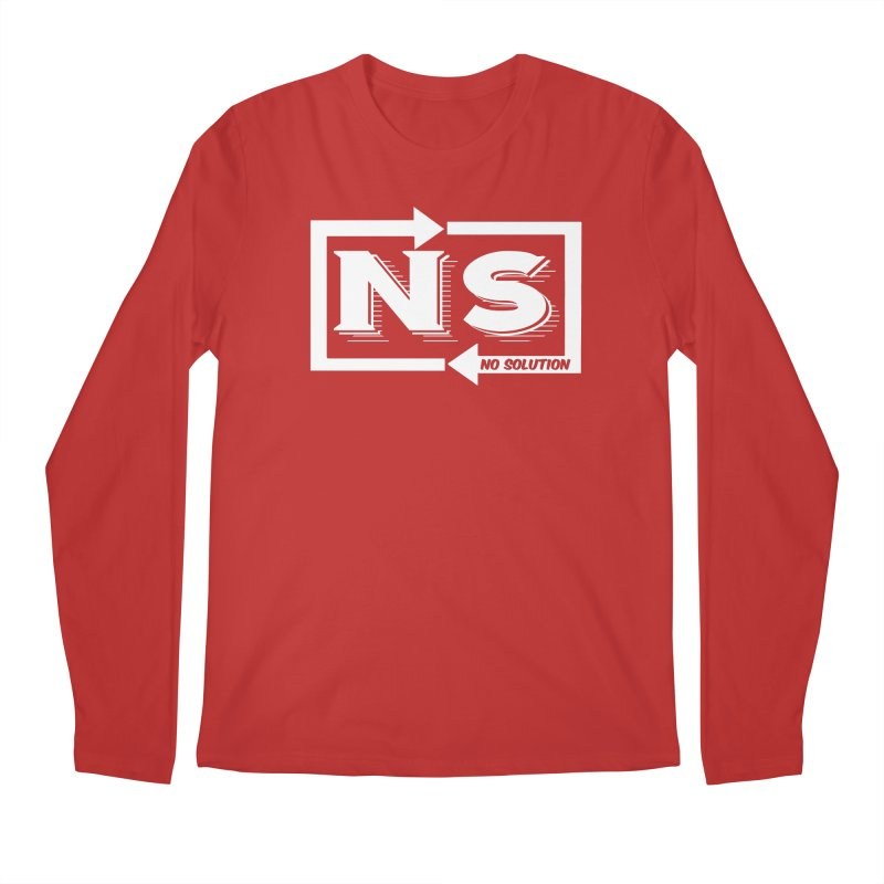 No Solution Logo Men's Regular Longsleeve T-Shirt by nosolution's Artist Shop