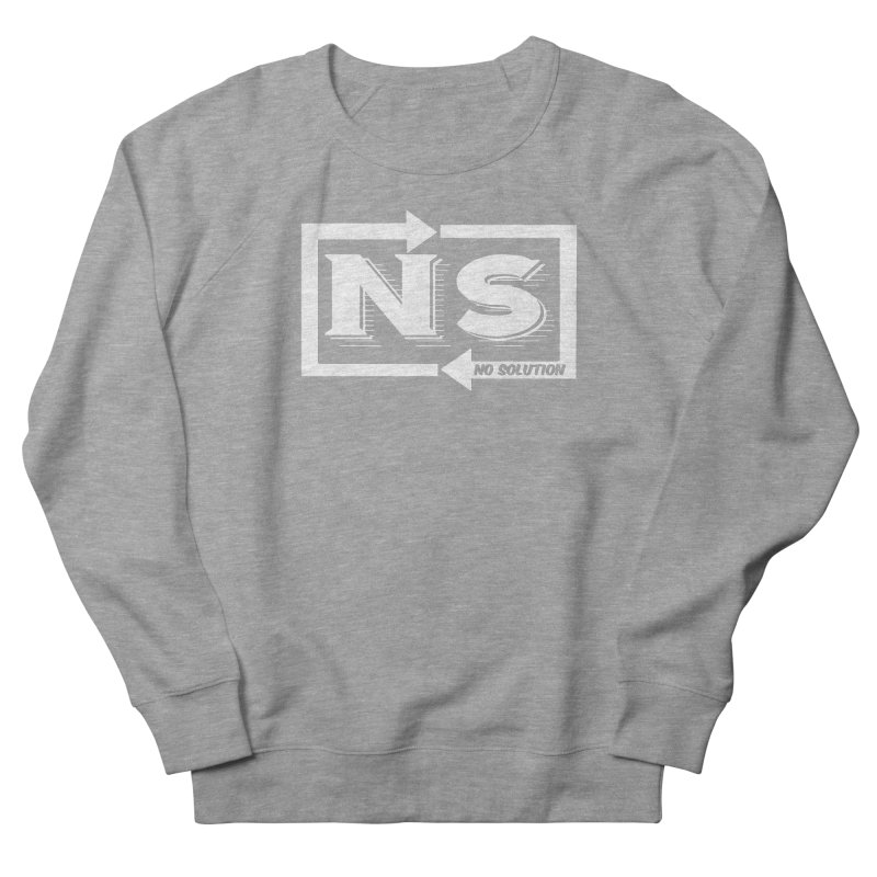 No Solution Logo Women's French Terry Sweatshirt by nosolution's Artist Shop