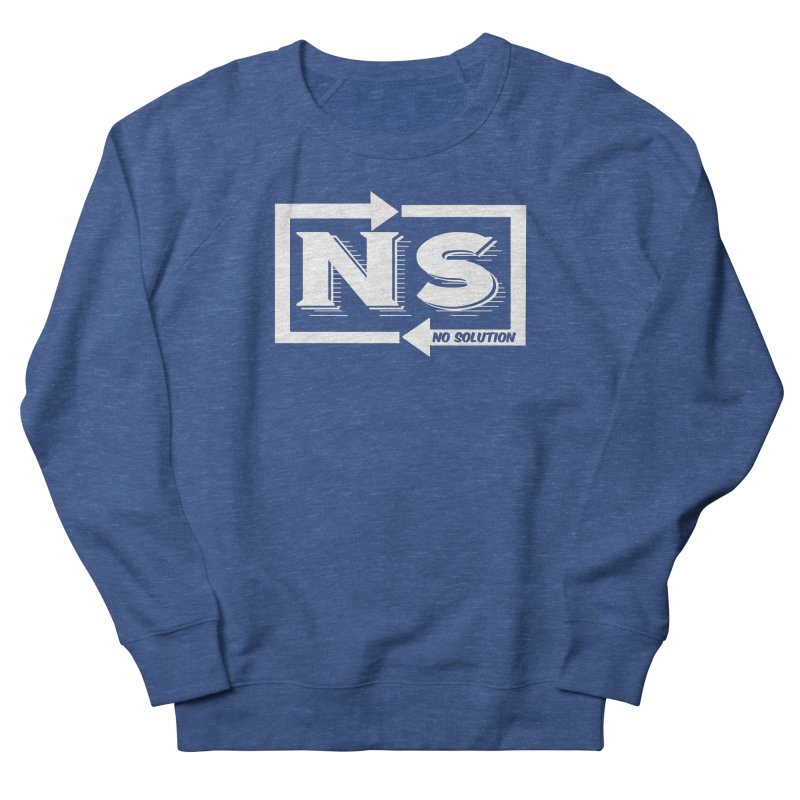 No Solution Logo Men's French Terry Sweatshirt by nosolution's Artist Shop
