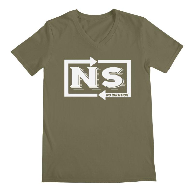 No Solution Logo Men's Regular V-Neck by nosolution's Artist Shop