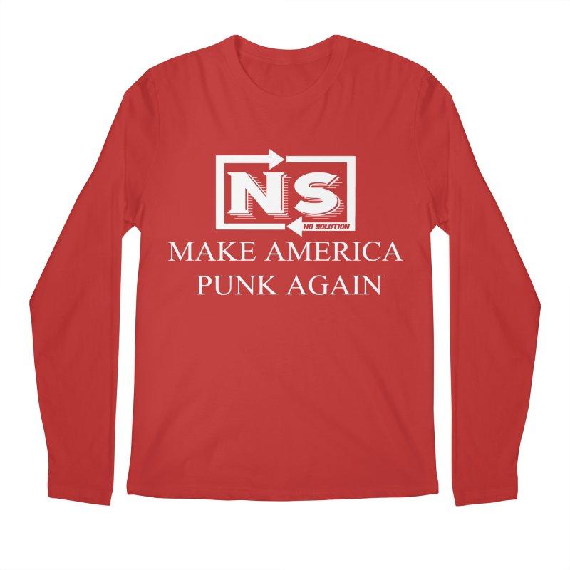 Make America Punk Again Men's Regular Longsleeve T-Shirt by nosolution's Artist Shop