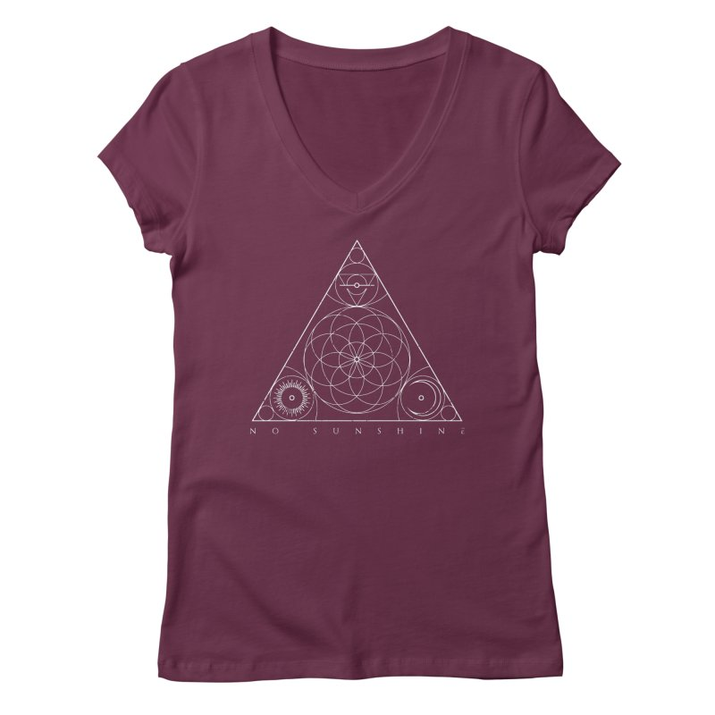 No Sunshine Pyramid Women's Regular V-Neck by Official No Sunshine Merchandise