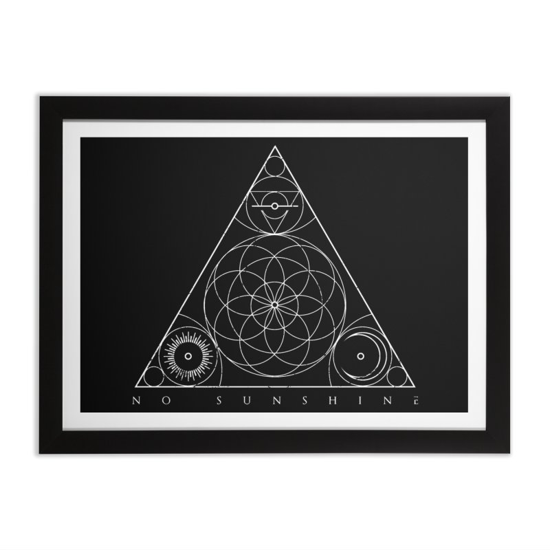 No Sunshine Pyramid Home Framed Fine Art Print by Official No Sunshine Merchandise