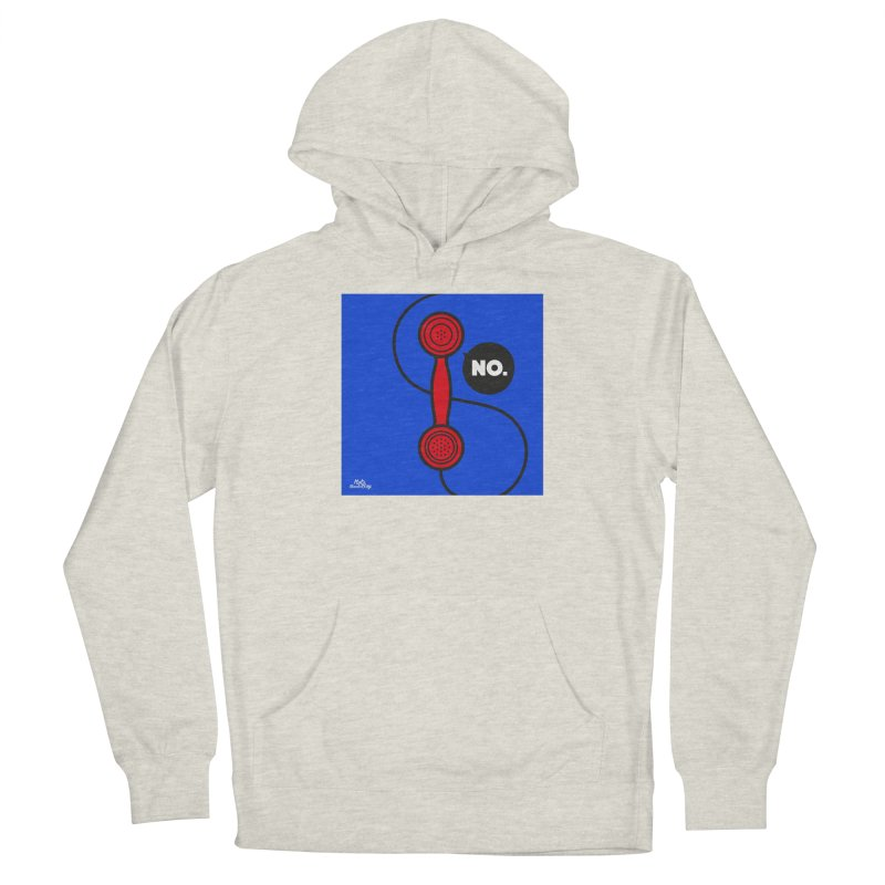 NO. Men's French Terry Pullover Hoody by Notawonderboy!