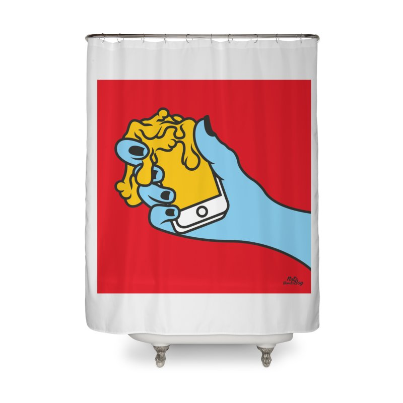 WASTING TIME Home Shower Curtain by Notawonderboy!