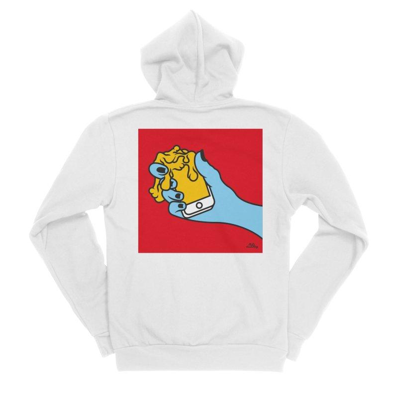 WASTING TIME Men's Sponge Fleece Zip-Up Hoody by Notawonderboy!