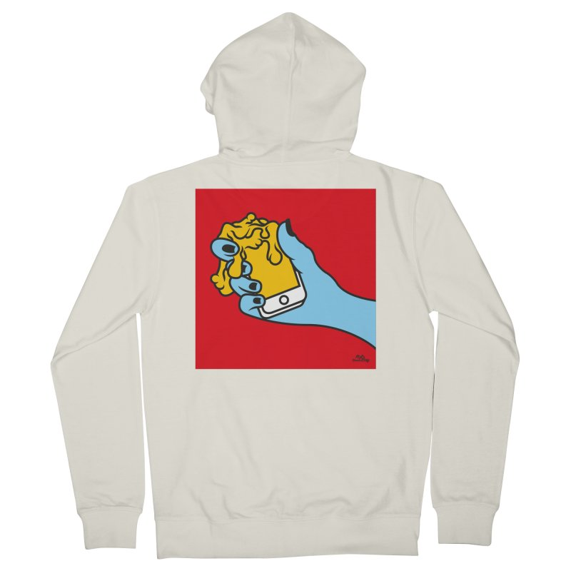 WASTING TIME Men's French Terry Zip-Up Hoody by Notawonderboy!