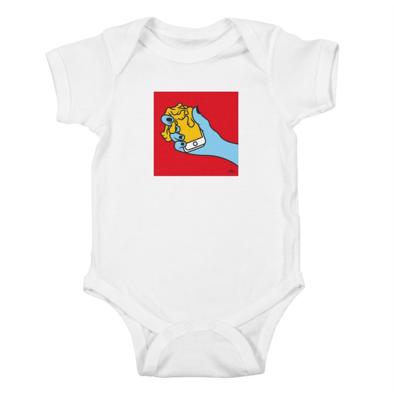 WASTING TIME Kids Baby Bodysuit by Notawonderboy!