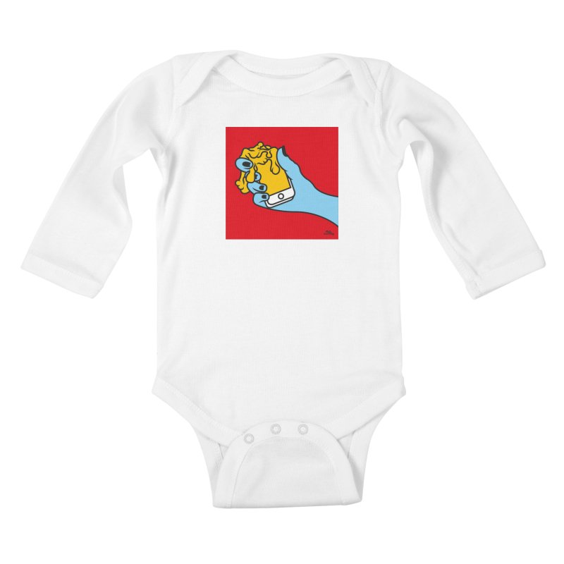 WASTING TIME Kids Baby Longsleeve Bodysuit by Notawonderboy!