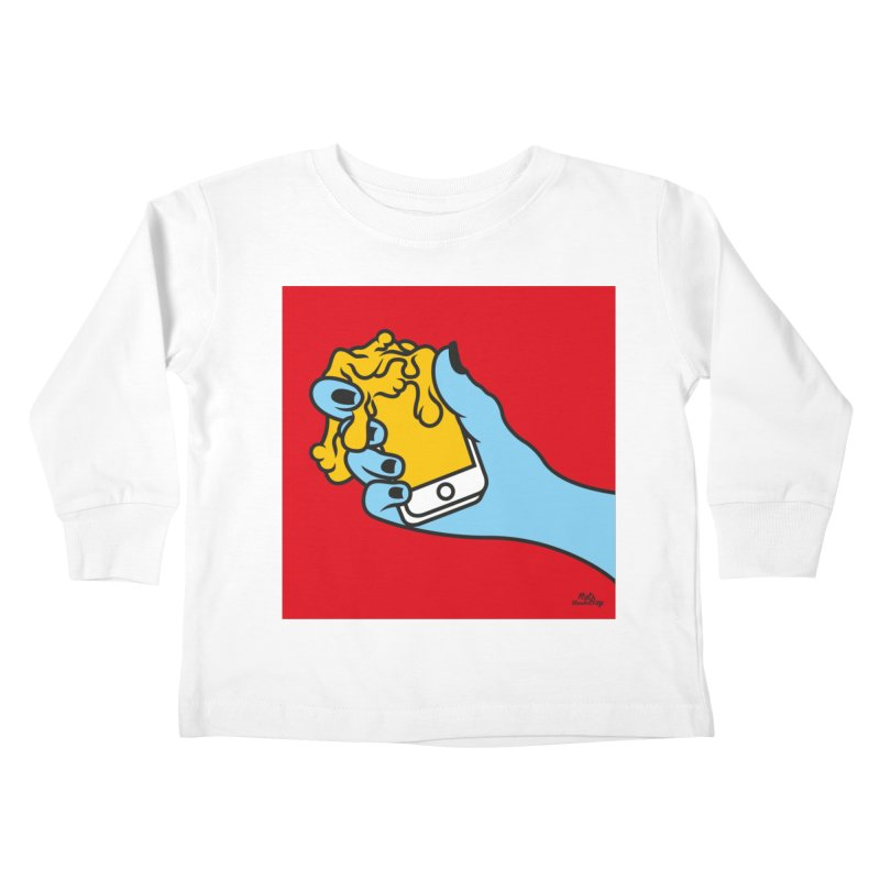 WASTING TIME Kids Toddler Longsleeve T-Shirt by Notawonderboy!
