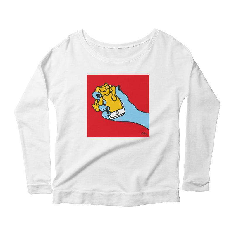 WASTING TIME Women's Scoop Neck Longsleeve T-Shirt by Notawonderboy!