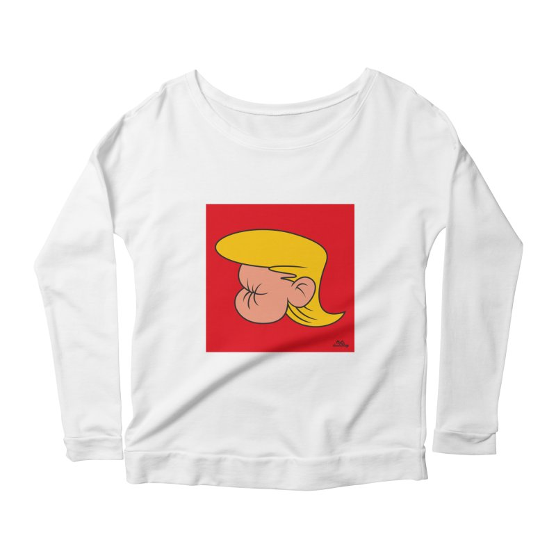 TUCK FRUMP Women's Scoop Neck Longsleeve T-Shirt by Notawonderboy!