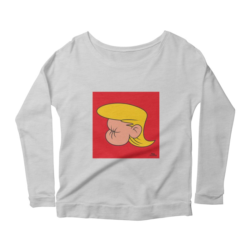 TUCK FRUMP Women's Scoop Neck Longsleeve T-Shirt by Notawonderboy!