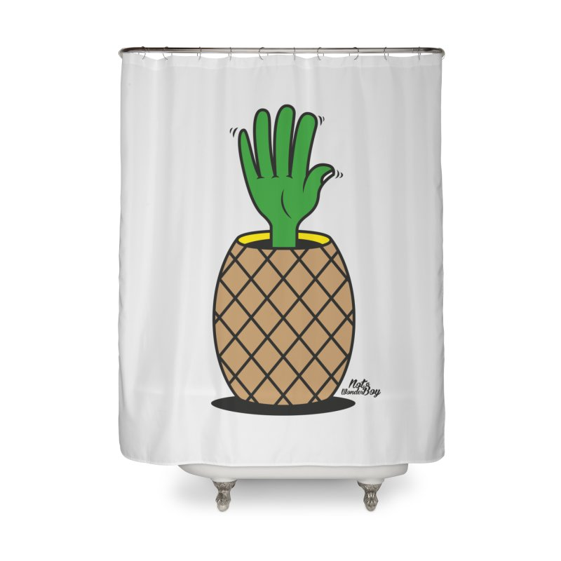 ANANAS Home Shower Curtain by Notawonderboy!