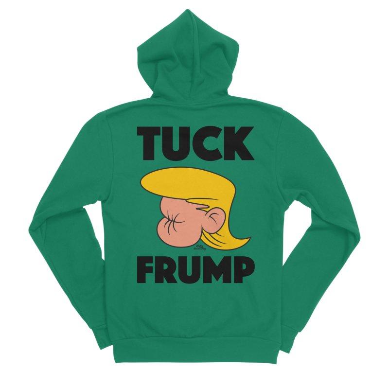 TUCK FRUMP LETTERING Men's Sponge Fleece Zip-Up Hoody by Notawonderboy!