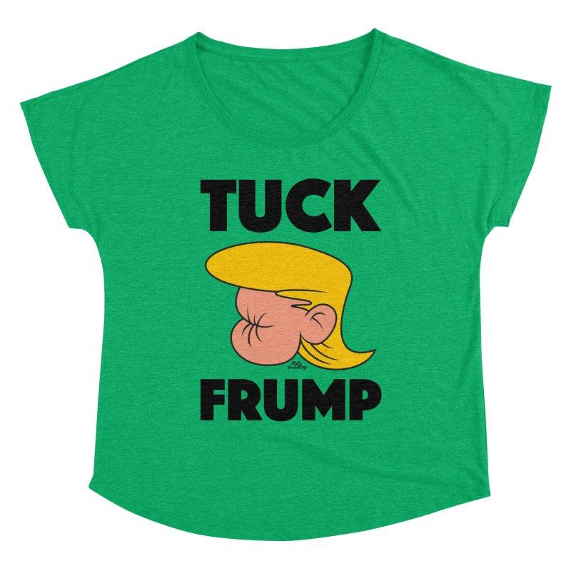TUCK FRUMP LETTERING Women's Scoop Neck by Notawonderboy!