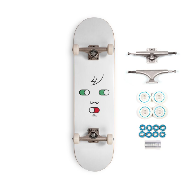 WATCH OUT AND SHUT YOUR MOUTH Accessories Complete - Basic Skateboard by Notawonderboy!
