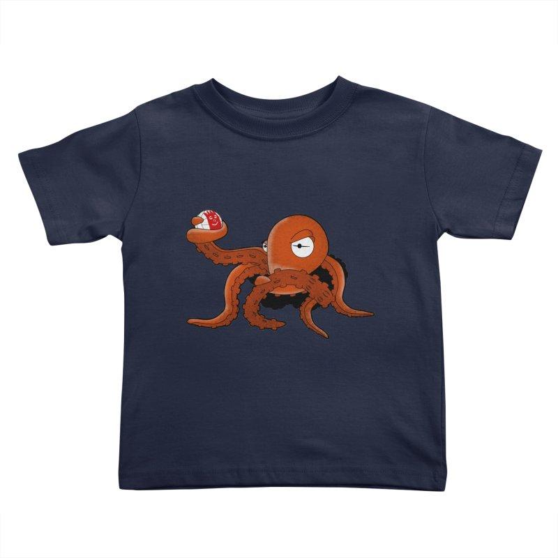 Octopus Wilson Kids Toddler T-Shirt by notblinking's Artist Shop