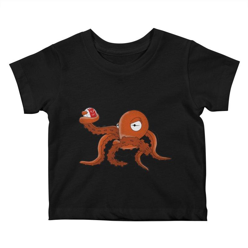 Octopus Wilson Kids Baby T-Shirt by notblinking's Artist Shop