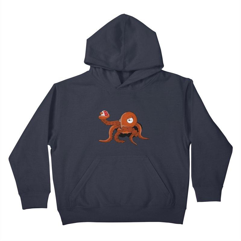 Octopus Wilson Kids Pullover Hoody by notblinking's Artist Shop