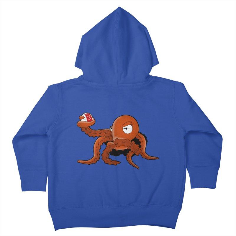 Octopus Wilson Kids Toddler Zip-Up Hoody by notblinking's Artist Shop