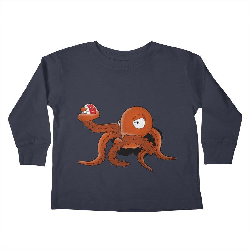 Octopus Wilson Kids Toddler Longsleeve T-Shirt by notblinking's Artist Shop