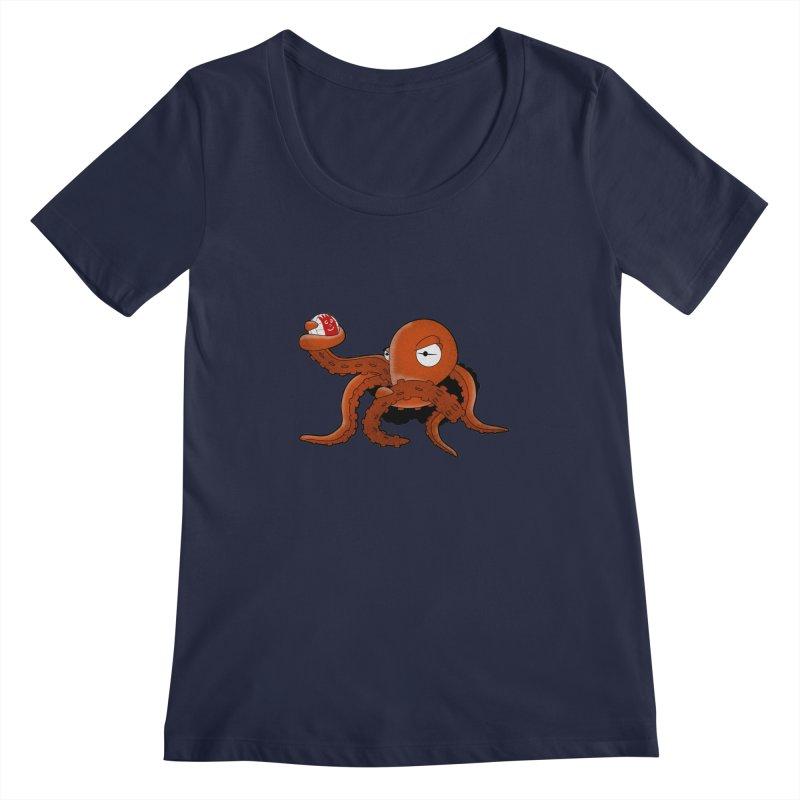 Octopus Wilson Women's Scoopneck by notblinking's Artist Shop