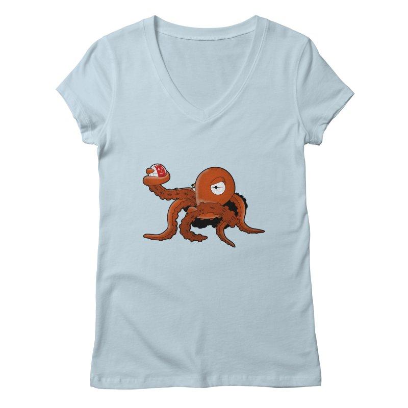 Octopus Wilson Women's V-Neck by notblinking's Artist Shop