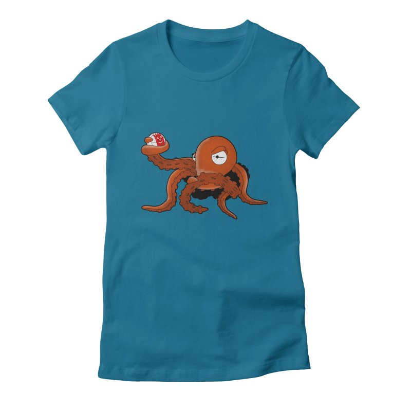 Octopus Wilson Women's Fitted T-Shirt by notblinking's Artist Shop